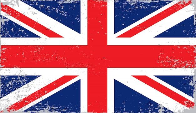 Verontruste vlag van het verenigd koninkrijk