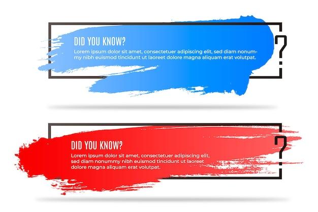 Verpak vraagbanners met kleurrijk verloop