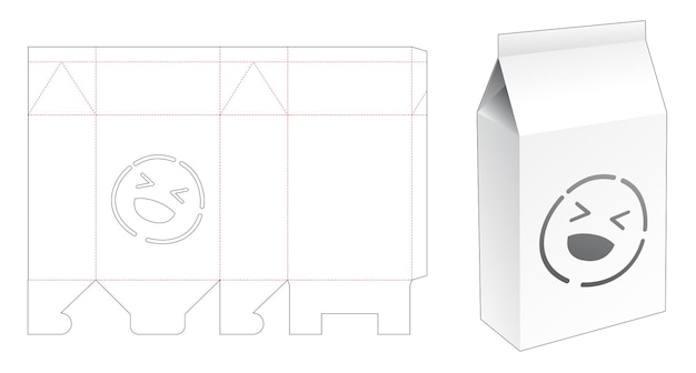 Verpakking en glimlach pictogram stencil gestanst sjabloon