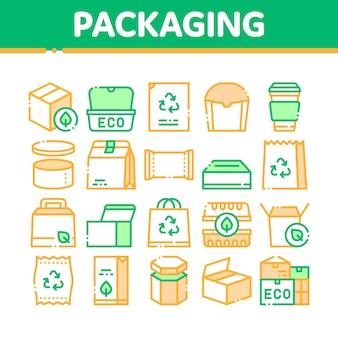 Verpakking pictogrammen collectie