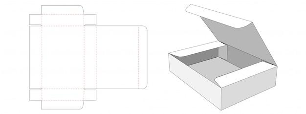 Verpakking rechthoekige doos gestanst sjabloonontwerp