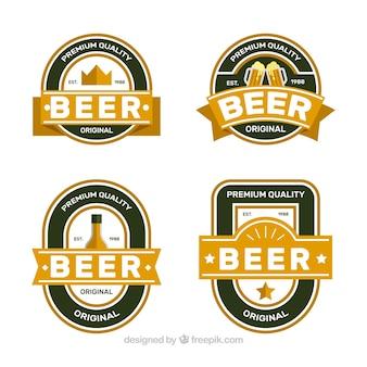 Verpakking retro bier stickers