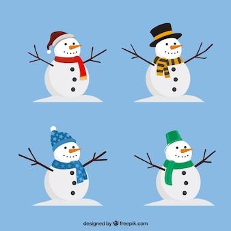 Verpakking sneeuwpop met accessoires