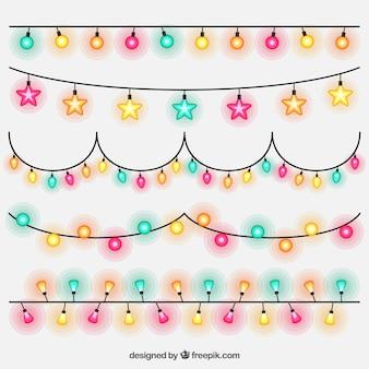 Verpakking van de partij gekleurde lichtslingers