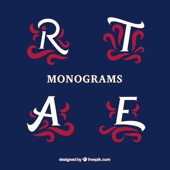 Verpakking van decoratieve monogrammen