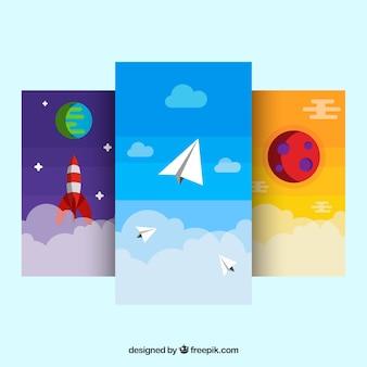 Verpakking van verschillende mobiele wallpapers