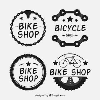 Verpakking van vier fiets stickers
