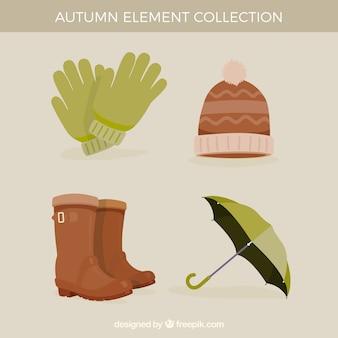 Verpakking van vier herfst accessoires