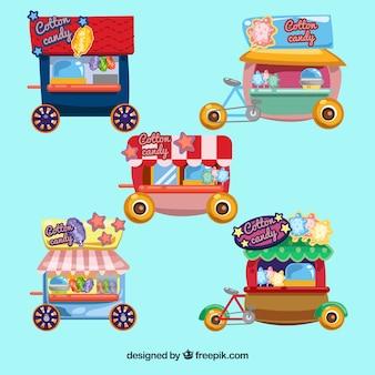 Verpakking van vintage katoen candy carts