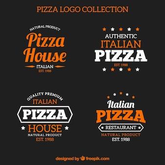 Verpakking van vintage pizza-logo's