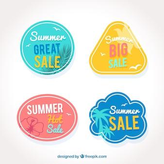Verpakking vintage zomer verkoop stickers
