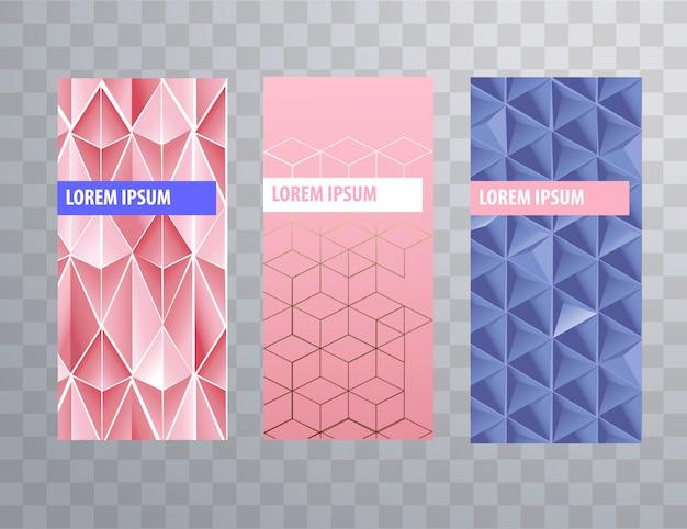 Verpakkingen of brochures bevatten vrouwelijke sjablonen