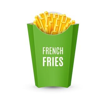Verpakkingen voor frieten illustratie