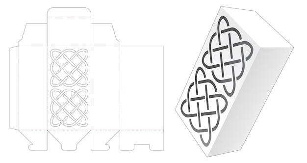 Verpakkingsdoos met gestencild patroon gestanst sjabloon