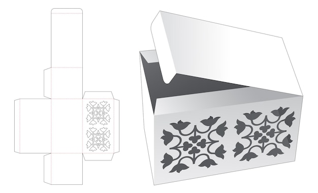 Verpakkingsdoos met luxe sjabloon bovenop gestanst sjabloon