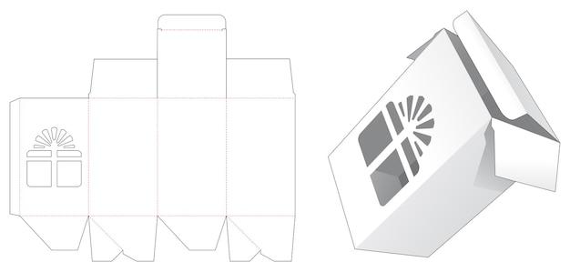 Verpakkingsdoos met sjabloon voor gestanst sjabloon in geschenkverpakking