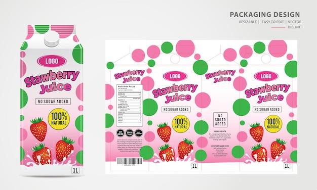 Verpakkingsontwerp pouch tas label sjabloonontwerp mock-up ontwerp
