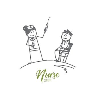 Verpleegkundige concept illustratie