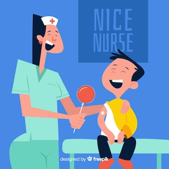 Verpleegster die geduldige achtergrond helpt