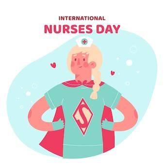 Verpleegster draagt een superheld kostuum