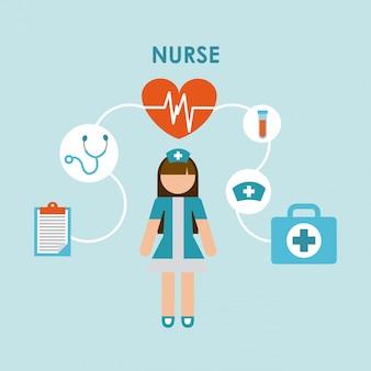 Verpleegster ontwerp