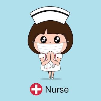 Verpleegster stripfiguur