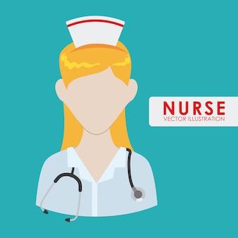Verpleegster vrouw
