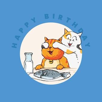 Verrassingsfeestje voor schattige kattenverjaardag