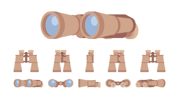 Verrekijker optische instrumentenset