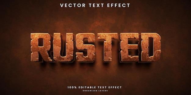 Verroeste bewerkbare teksteffect