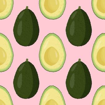Vers avocado naadloos patroon.
