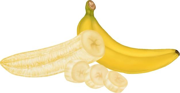 Vers bananenfruit tekening illustratie