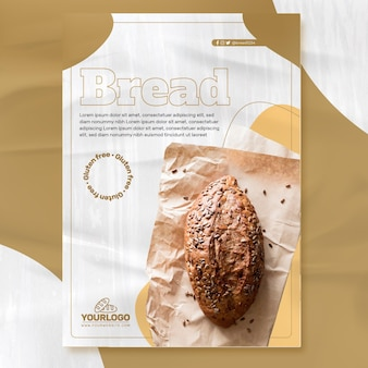 Vers brood folder sjabloon