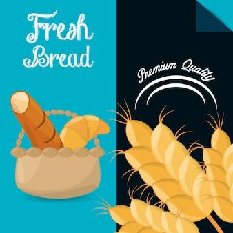 Vers brood premium kwaliteit brochure afbeelding