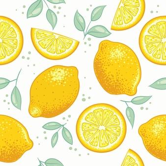 Vers citrus citroen patroon ontwerp