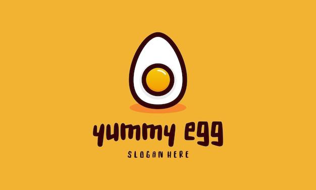 Vers ei logo sjabloonontwerpen, yummy ei logo vectorillustratie