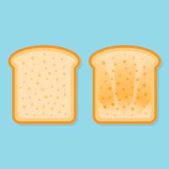 Vers en geroosterd brood.