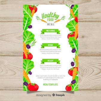 Vers fruit en groenten menusjabloon