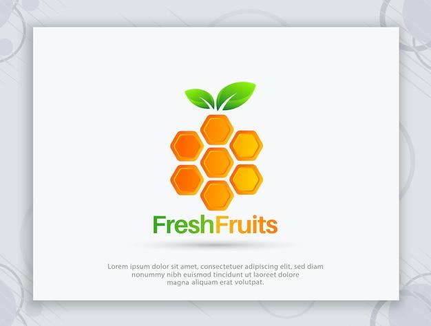 Vers fruit vector logo ontwerp