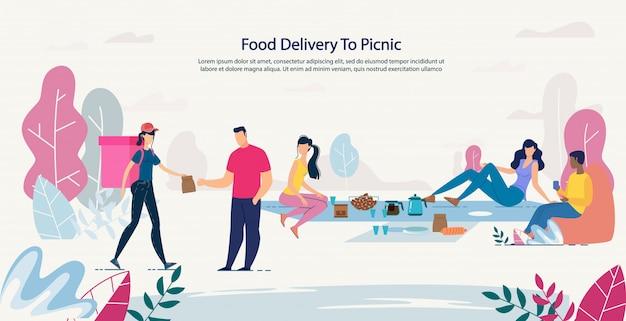 Vers gezond voedsel bezorgen bij picknick