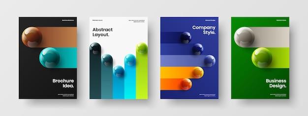 Vers pamflet a4 vector ontwerp illustratie bundel