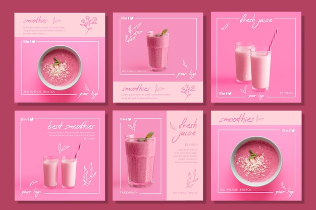 Vers sap smoothie concept