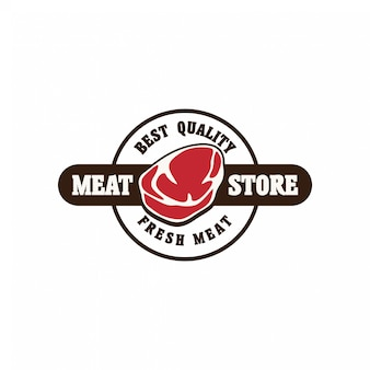 Vers vlees logo badge concept