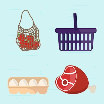 Vers voedsel supermarkt