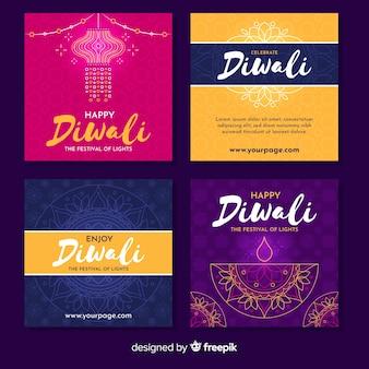 Verscheidenheid aan diwali instagramverhalen