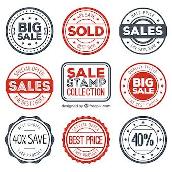 Verscheidenheid aan geweldige stickers met speciale aanbiedingen