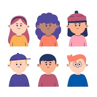 Verscheidenheid aan mensen avatars