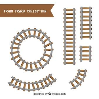 Verscheidenheid aan met de hand getrokken treinsporen