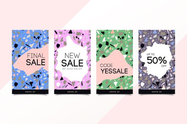 Verscheidenheid aan ontwerpen voor instagram-verkoopverhalen