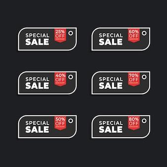 Verscheidenheid aan prijs- en kortingslabels voor het verzamelen van verkooplabels